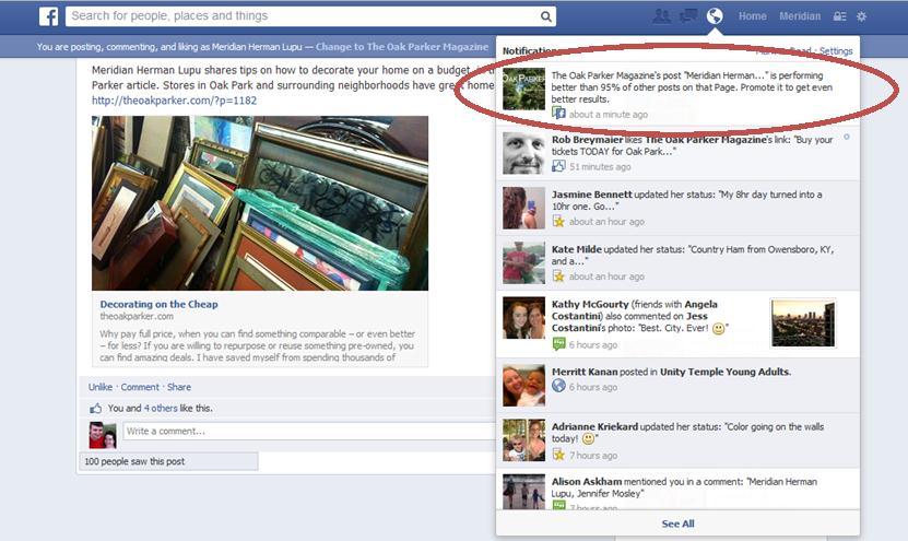 The Oak Parker Decor Blog Facebook Post