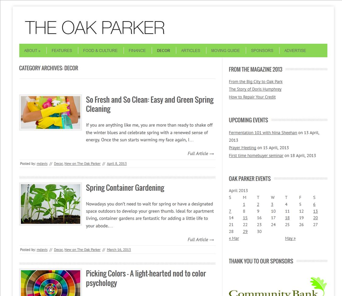 The Oak Parker Magazine Blog