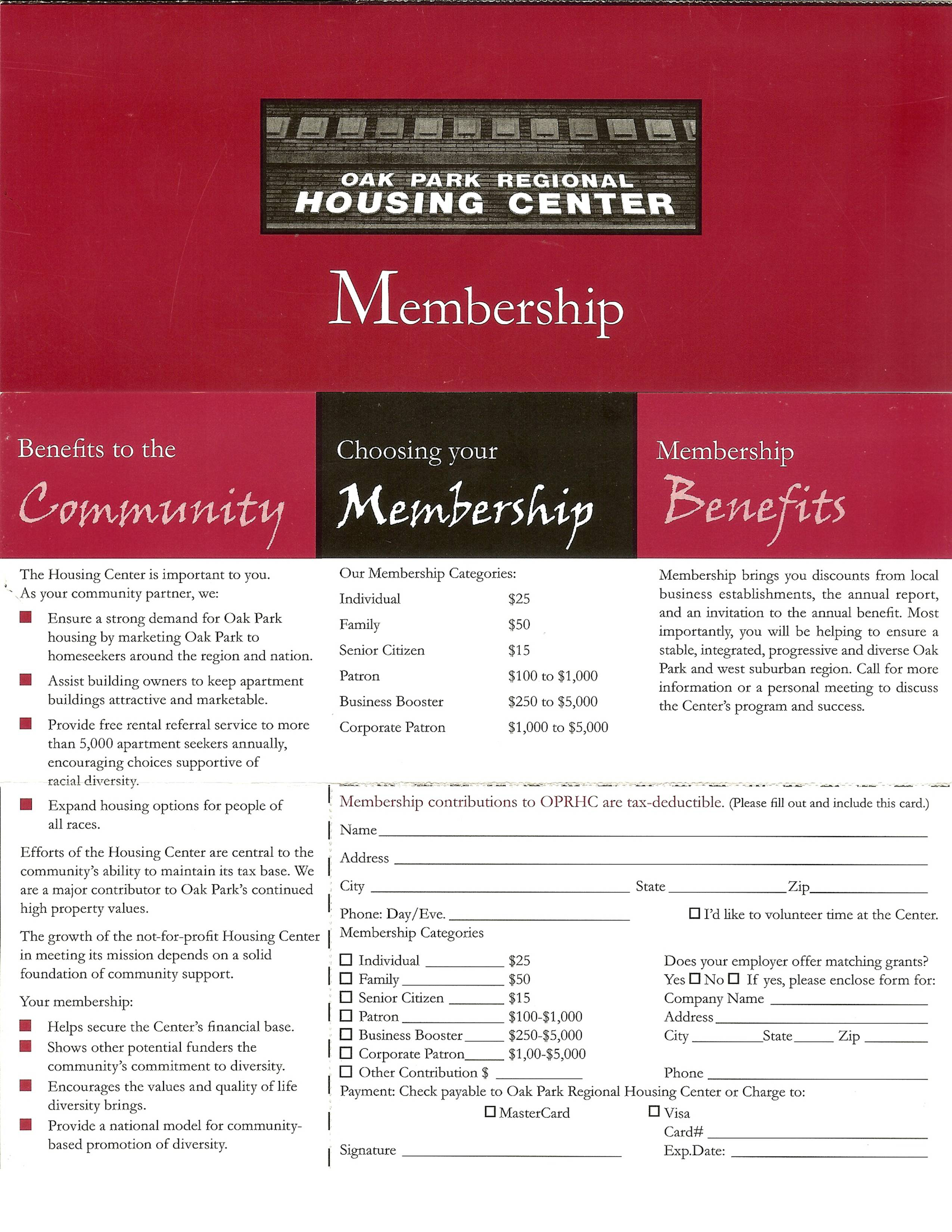 Before - Membership Form